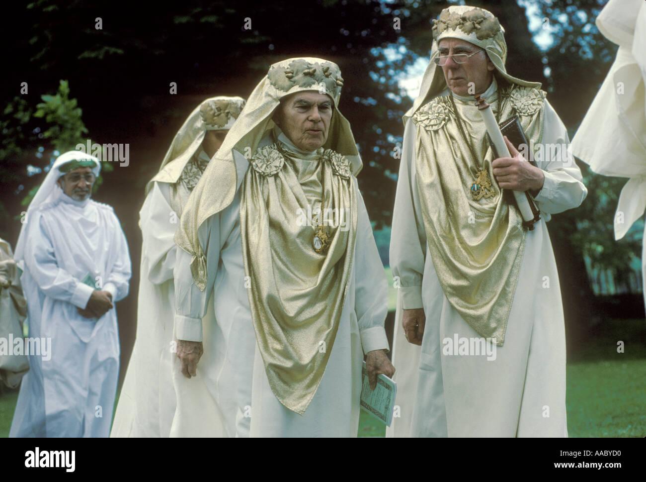The Gorsedd of Bards of the Isle of Britain Bala Gwynedd Wales HOMER SYKES - Stock Image