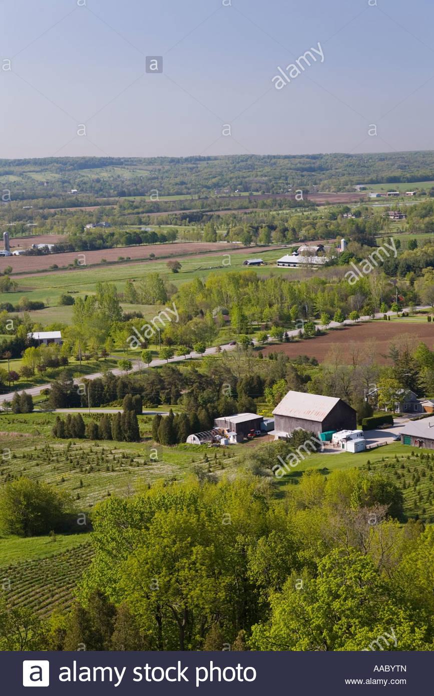 Farmland in the spring near Milton Ontario Canada - Stock Image