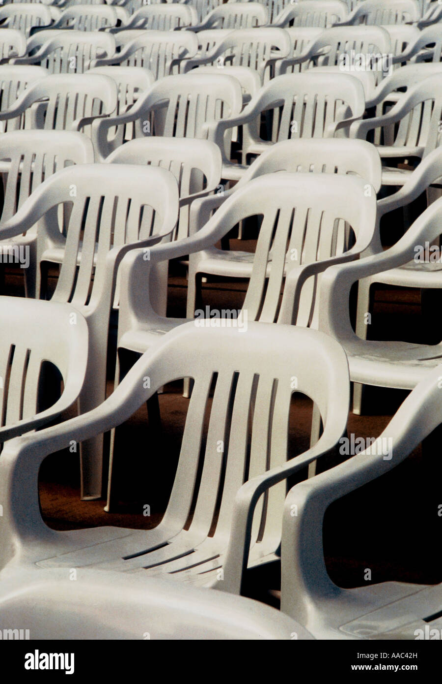 Room full of chairs Sameness conformity - Stock Image