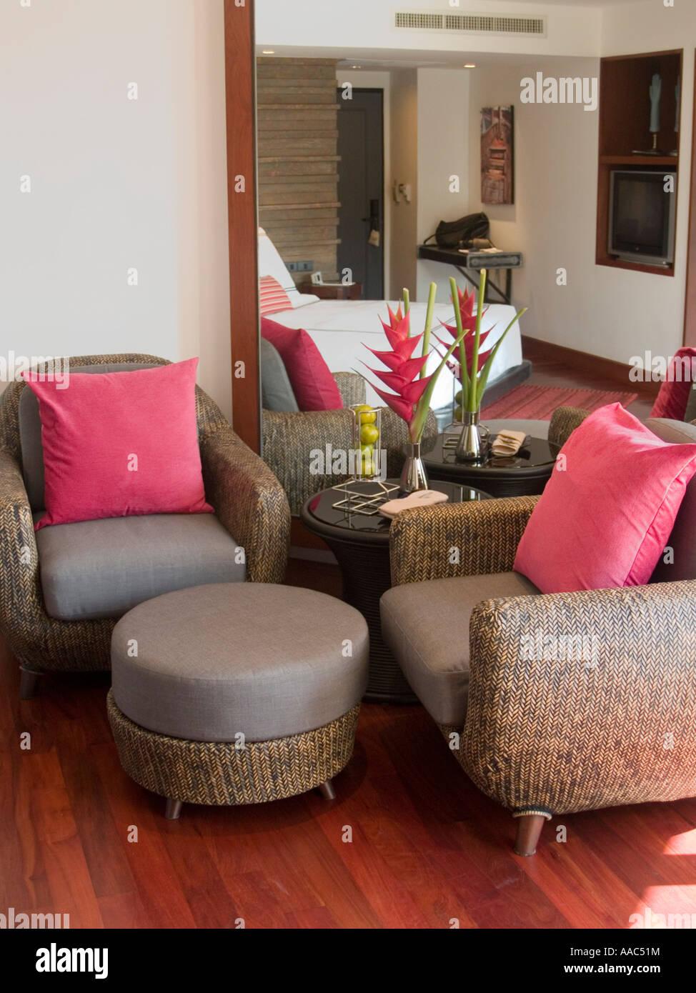 Post modern thai resort room design phuket