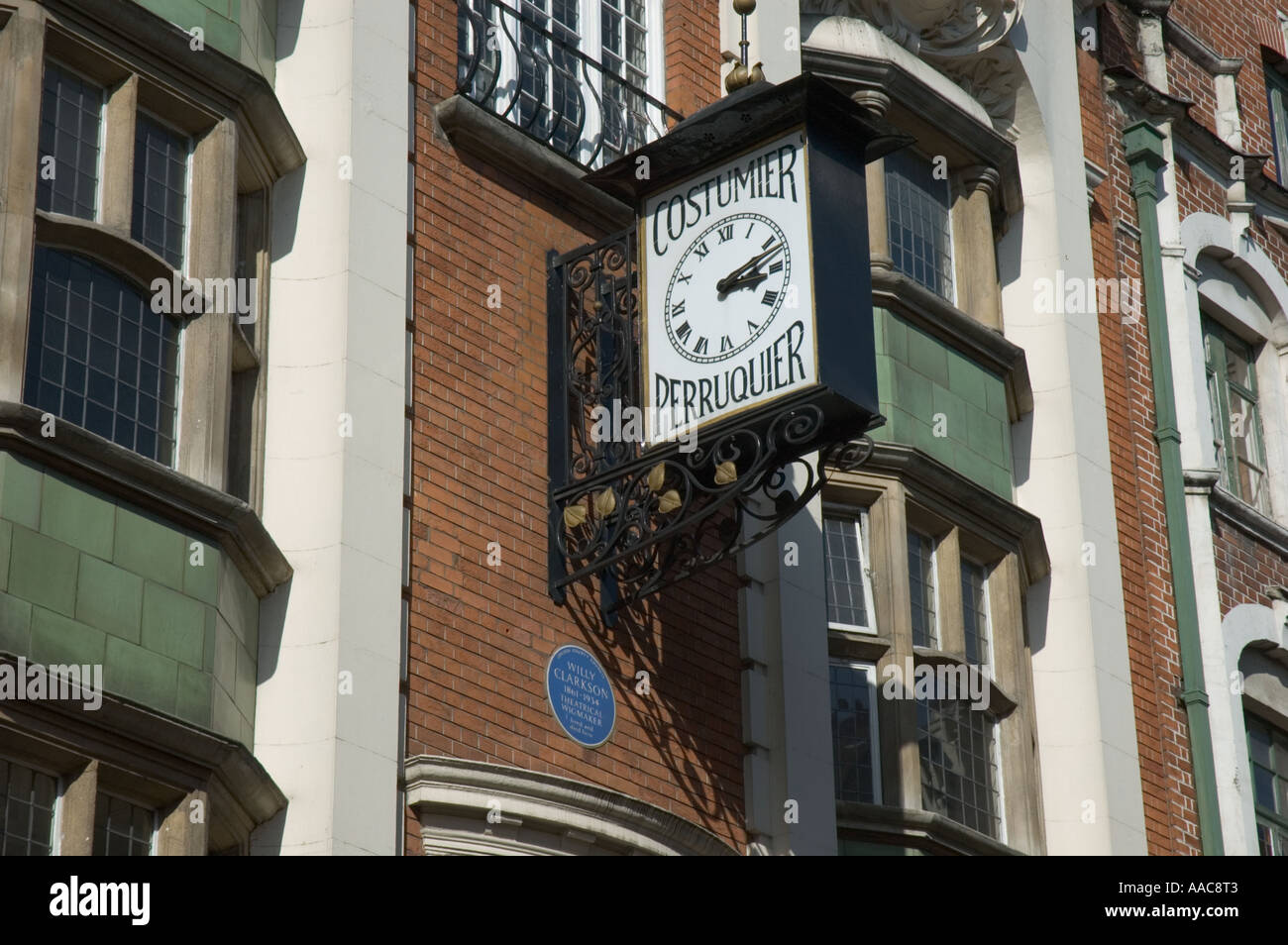 Art nouveau building in Wardour Street London UK Former home of Willy Clarkson a theatrical wigmaker. Stock Photo