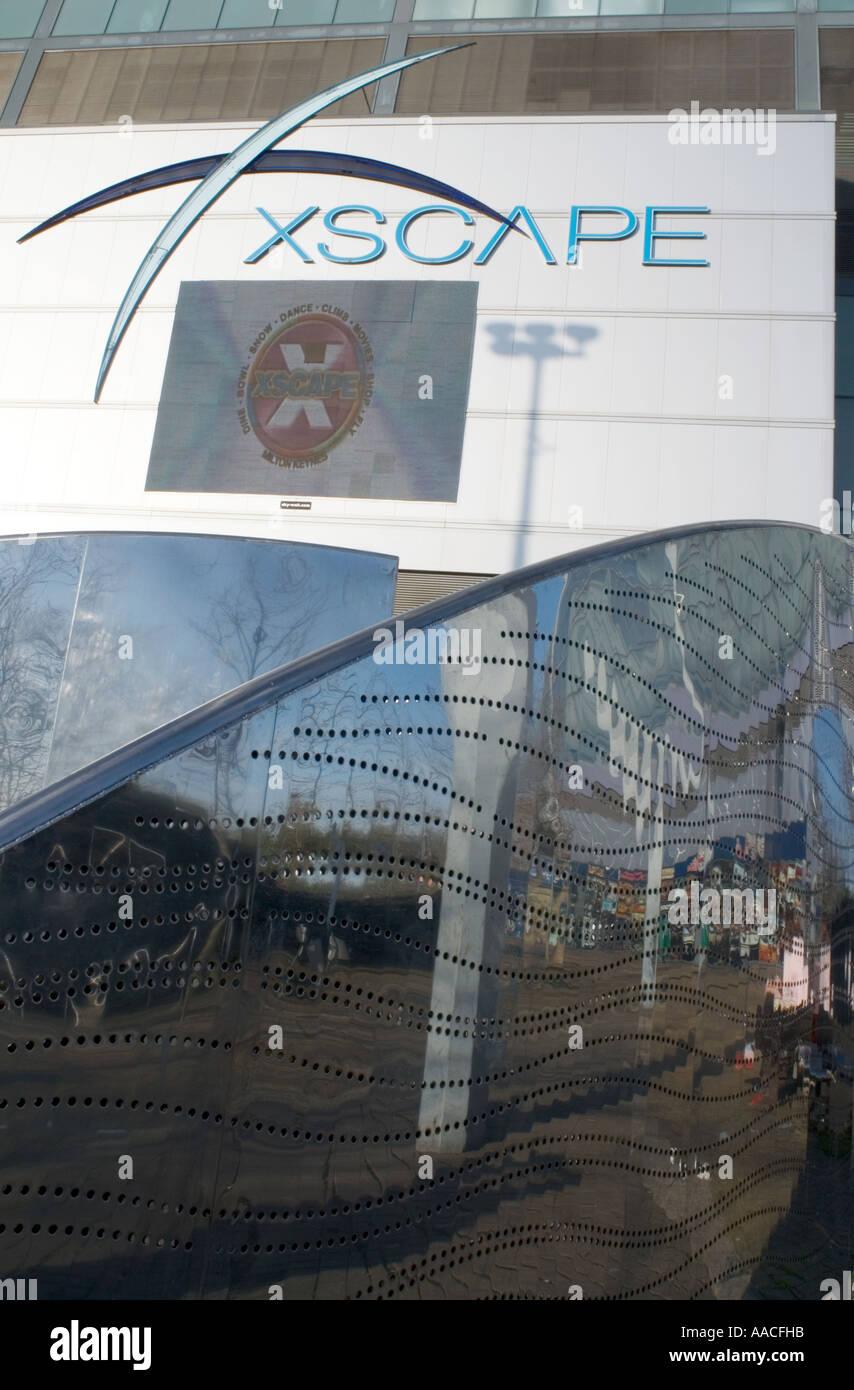 The Xscape dome building in Central Milton Keynes, the Centre MK including the snow zone snozone - Stock Image