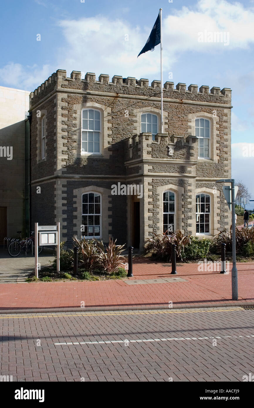 Waterguard cafe Cardiff Bay South Wales UK - Stock Image