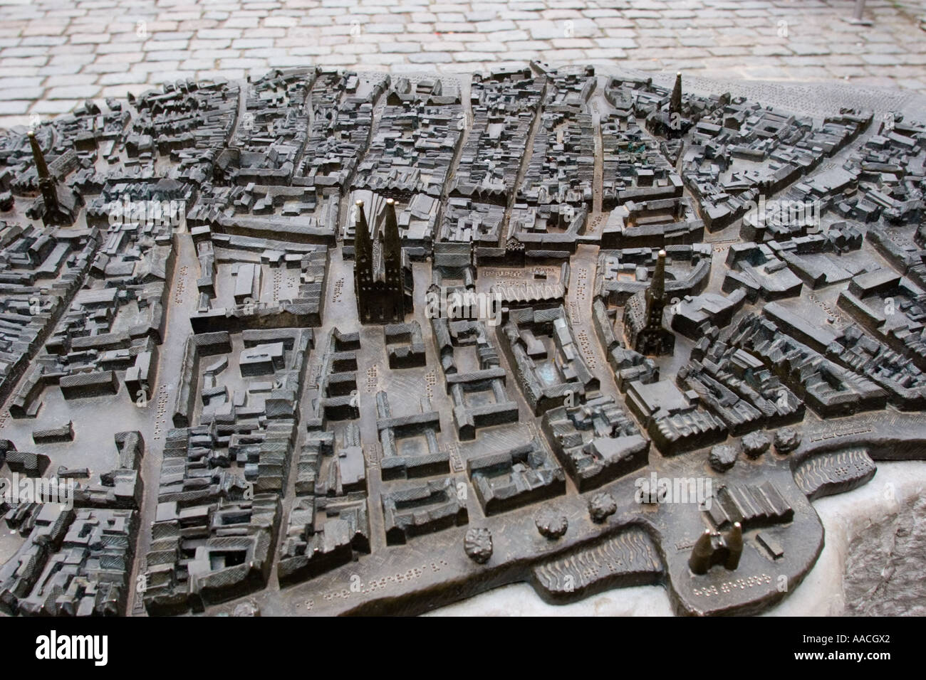 Model of medieval world stock photos model of medieval for Mobel lubeck