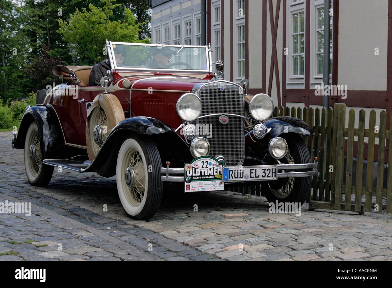 Vintage car Chevrolet Convertible Roadster of 1931, vintage car race ...