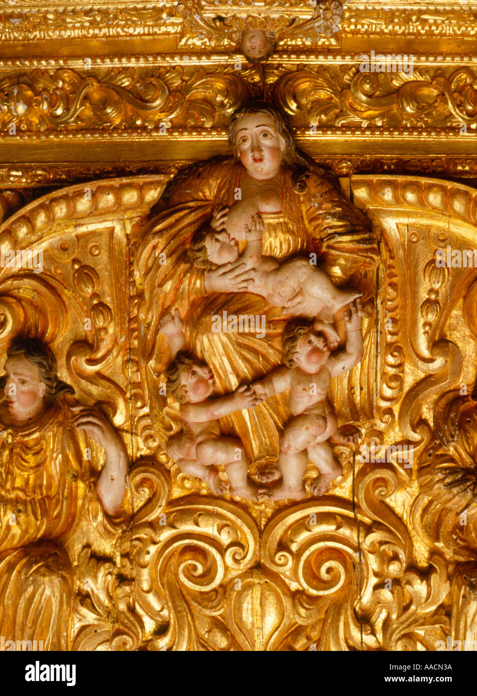 Baroque Carving Portugal - Stock Image