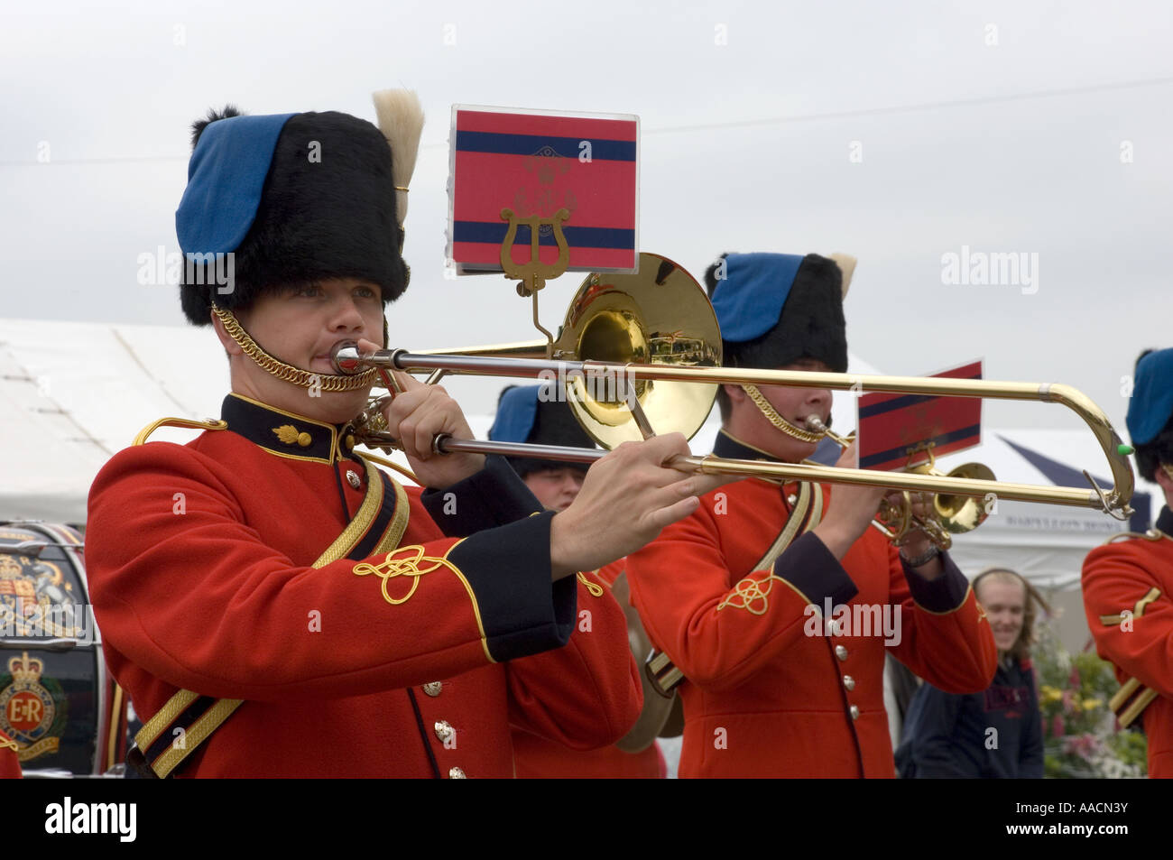 Bandsman with Trombone-2 - Stock Image