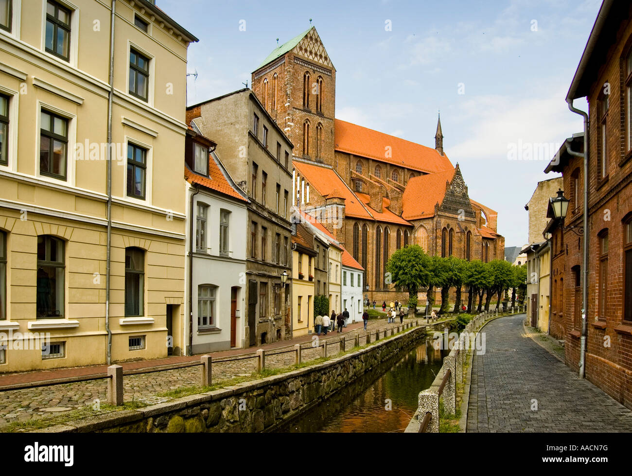 St. Nikolai church, Hanseatic league city, Wismar, Mecklenburg-Western Pomerania, Germany - Stock Image