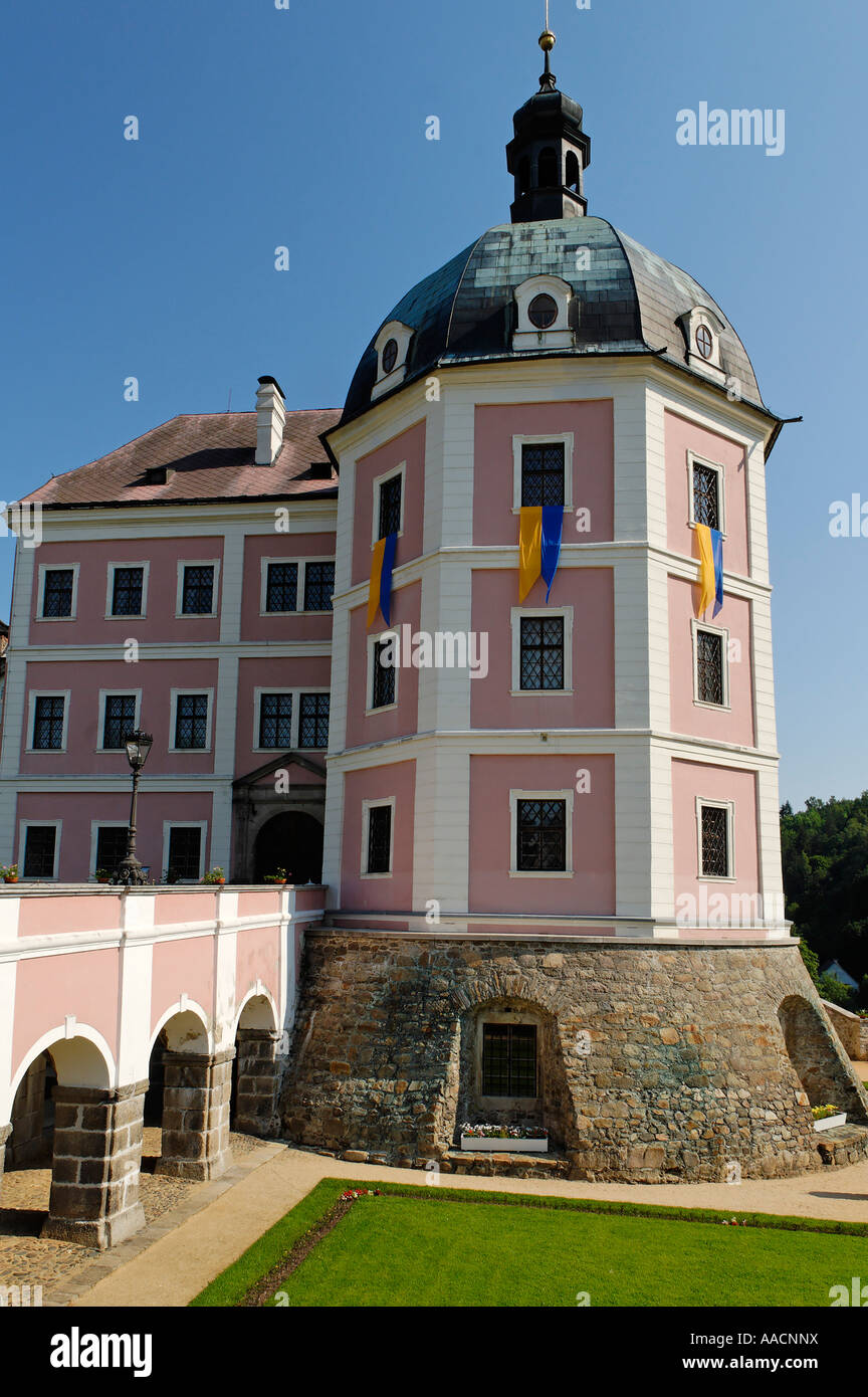 Historic old town of Becov nad Teplou, Bohemia, Czech Republic Stock Photo