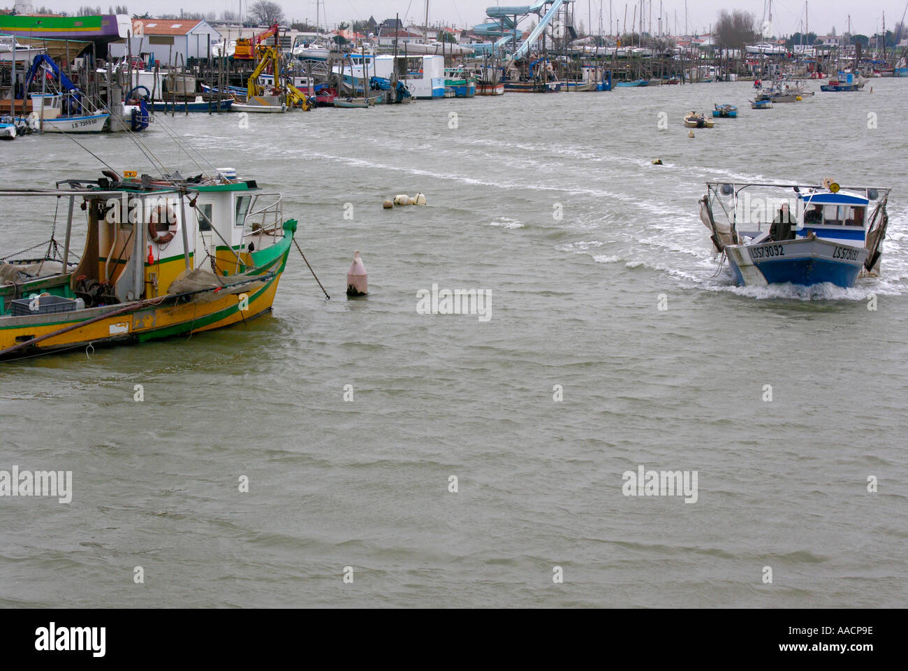 fisher port in l Aiguillons Mer Vendée - Stock Image