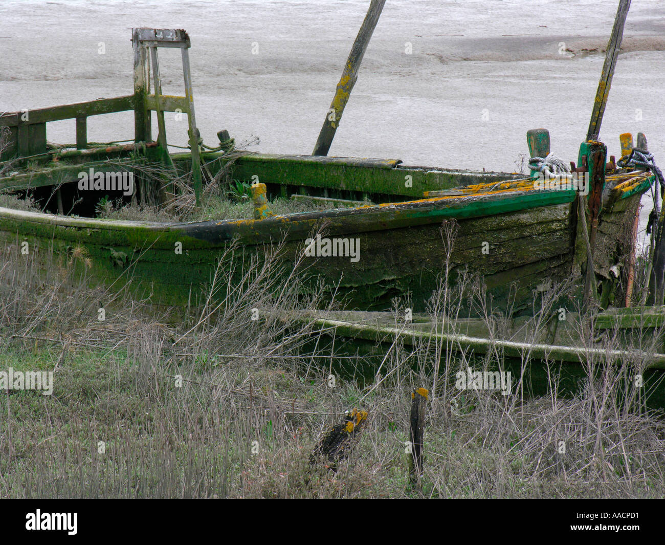 wrack near by fisher port in  Aiguillons Mer Vendée - Stock Image