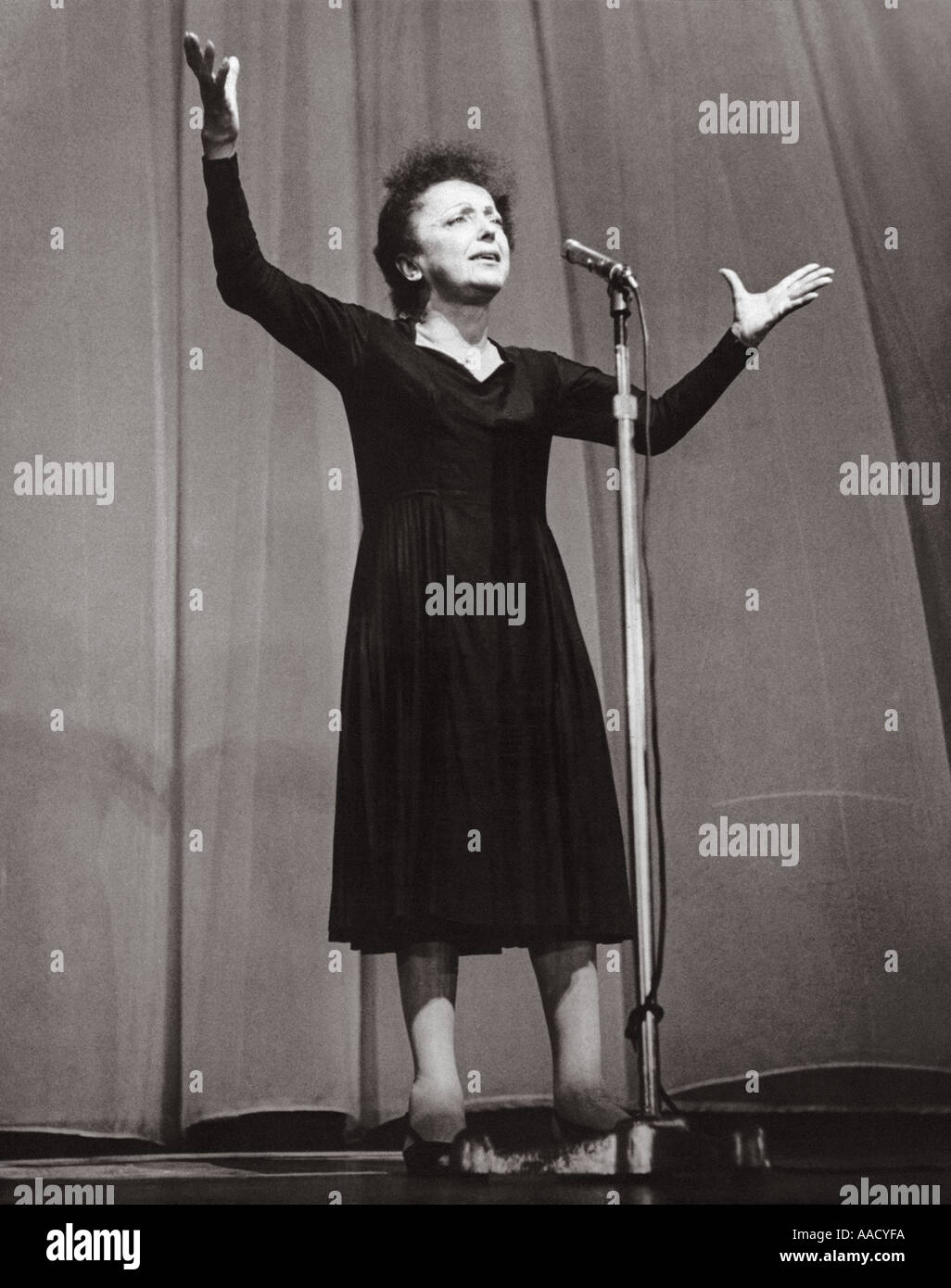 EDITH PIAF French singer 1915 1963 - Stock Image
