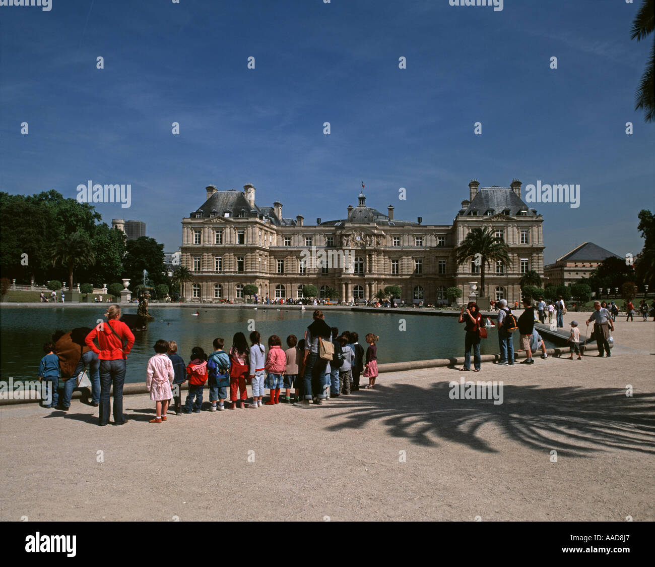 The Palais and Jardin de Luxembourg - Stock Image