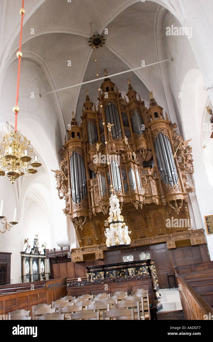 St Gille's Church, first mentioned in 1227. Lubeck North Germany - Stock Image