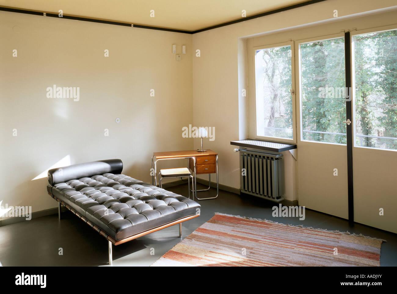 Dessau, Bauhaus Meisterhäuser, Feininger Haus, Wohnzimmer Von Julia  Feininger   Stock
