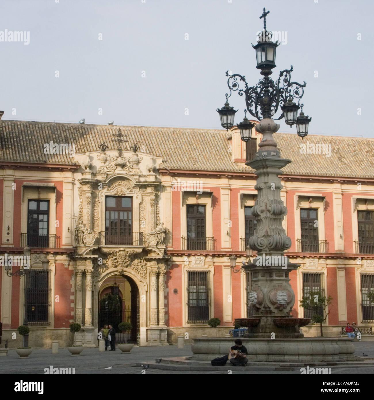 Archbishop's Palace Plaza Virgen de los Reyes Seville - Stock Image