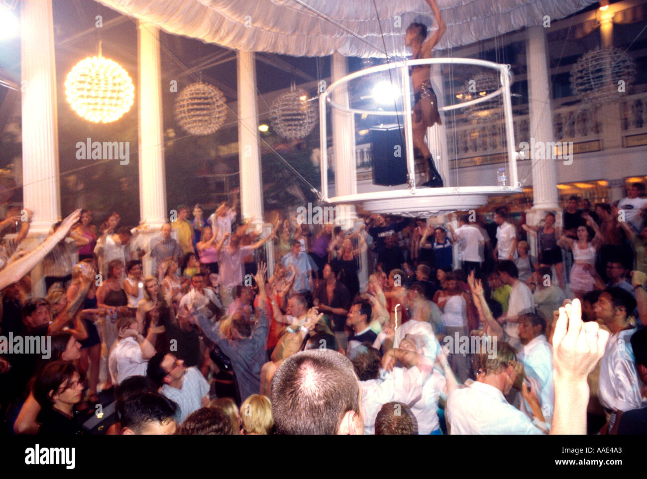 Es Paradis nightclub Ibiza, Spain - Stock Image