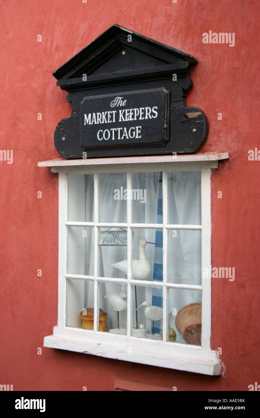 lavenham suffolk england the market keepers cottage window - Stock Image