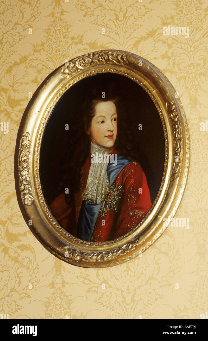 James Edward Stuart, The Old Pretender, Falkland Palace, Fife, Scotland, UK, painting, portrait, Jacobite Rebellion - Stock Image