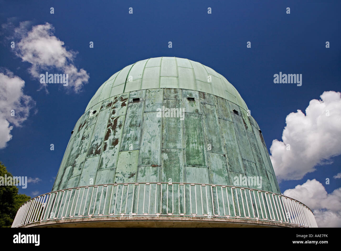 Science observatory, dome, interplanetary, space, exploration, galaxy, explore, Sussex, England, architecture, building. - Stock Image