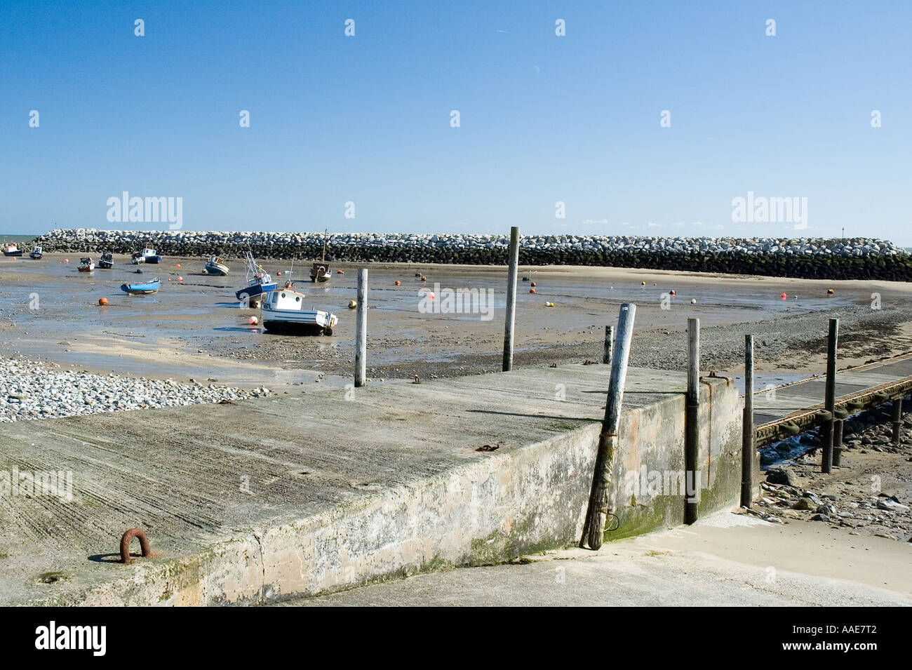 Harbour at Rhos on Sea Colwyn Bay - Stock Image