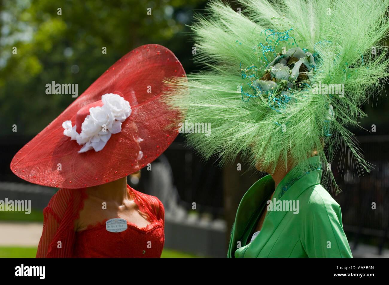 Extravagant hats at Royal Ascot - Stock Image