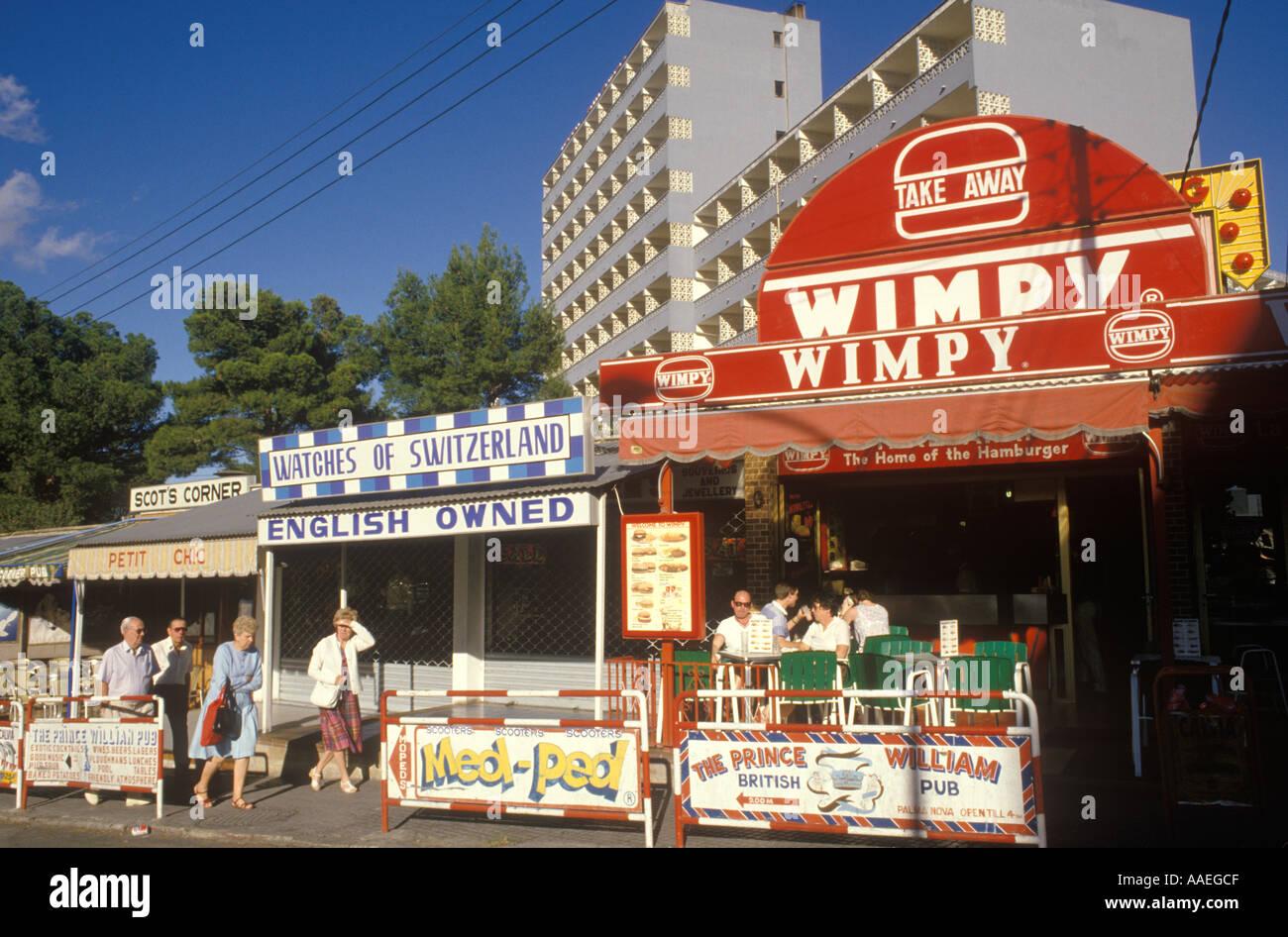 1980s tourism Spain Majorca English owned bars restaurants