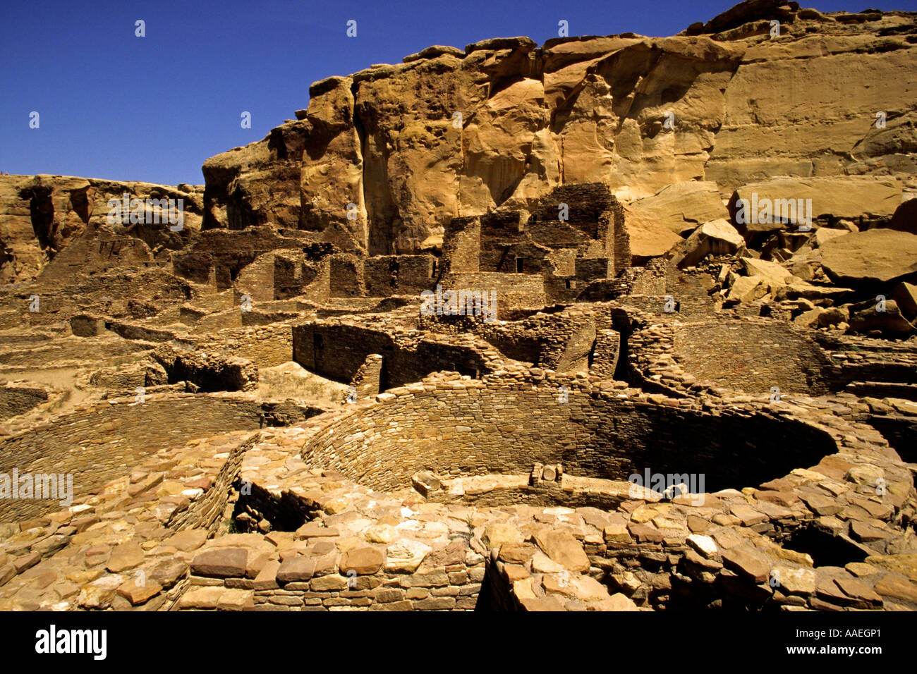 Chaco Culture National Historical Park Chaco Canyon New Mexico USA - Stock Image
