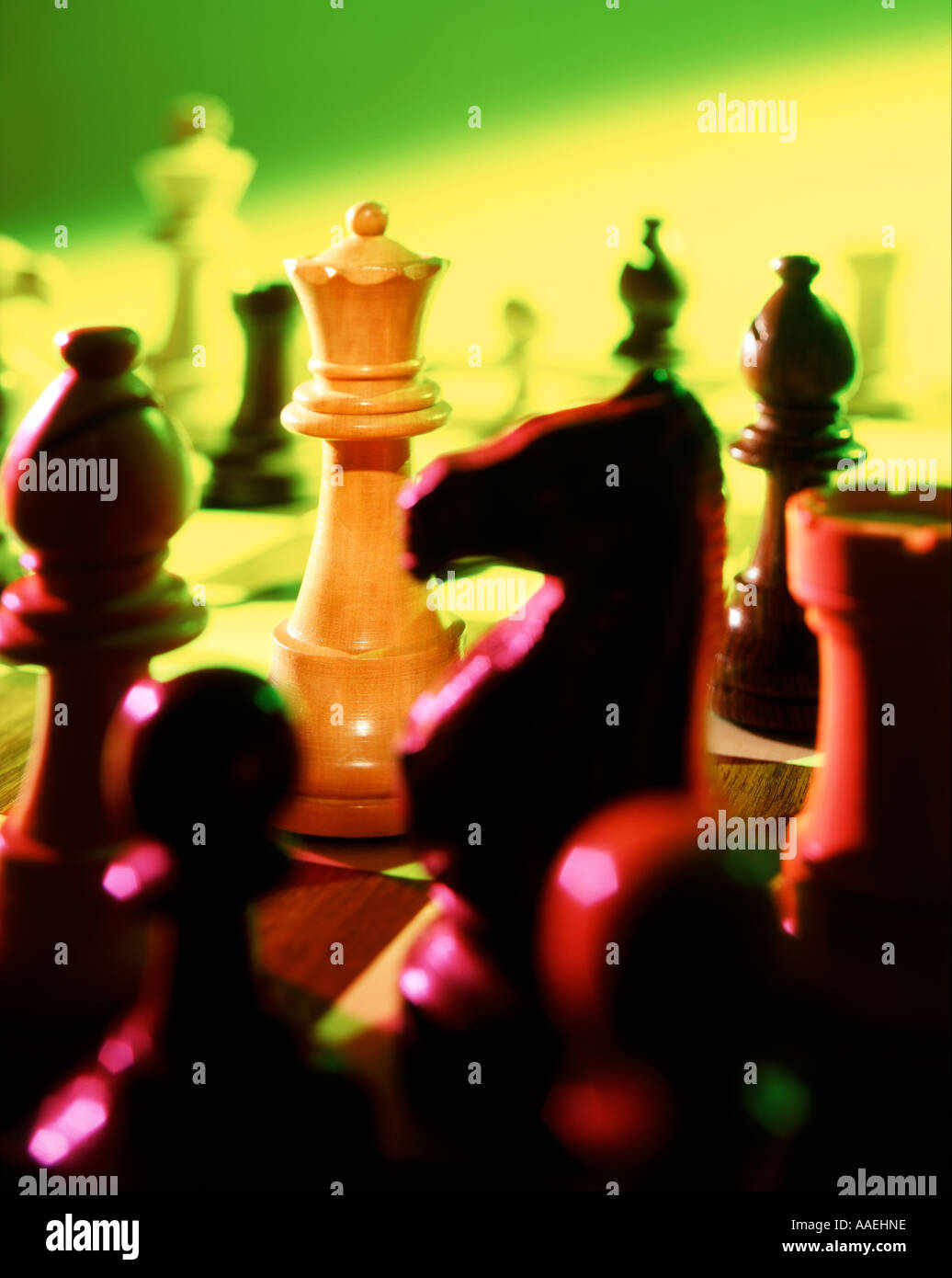 chess game close up - Stock Image