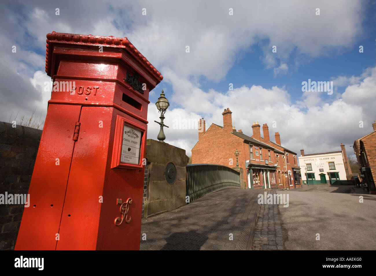 UK England West Midlands Dudley Black Country Museum Victorian pillar box - Stock Image