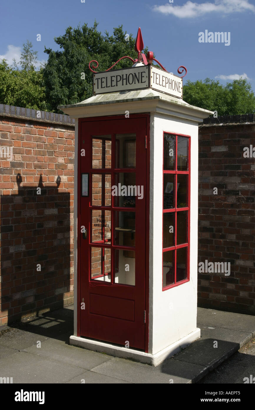 National Telephone Kiosk Collection at the Avoncroft Museum near Bromsgrove Worcestershire UK - Stock Image