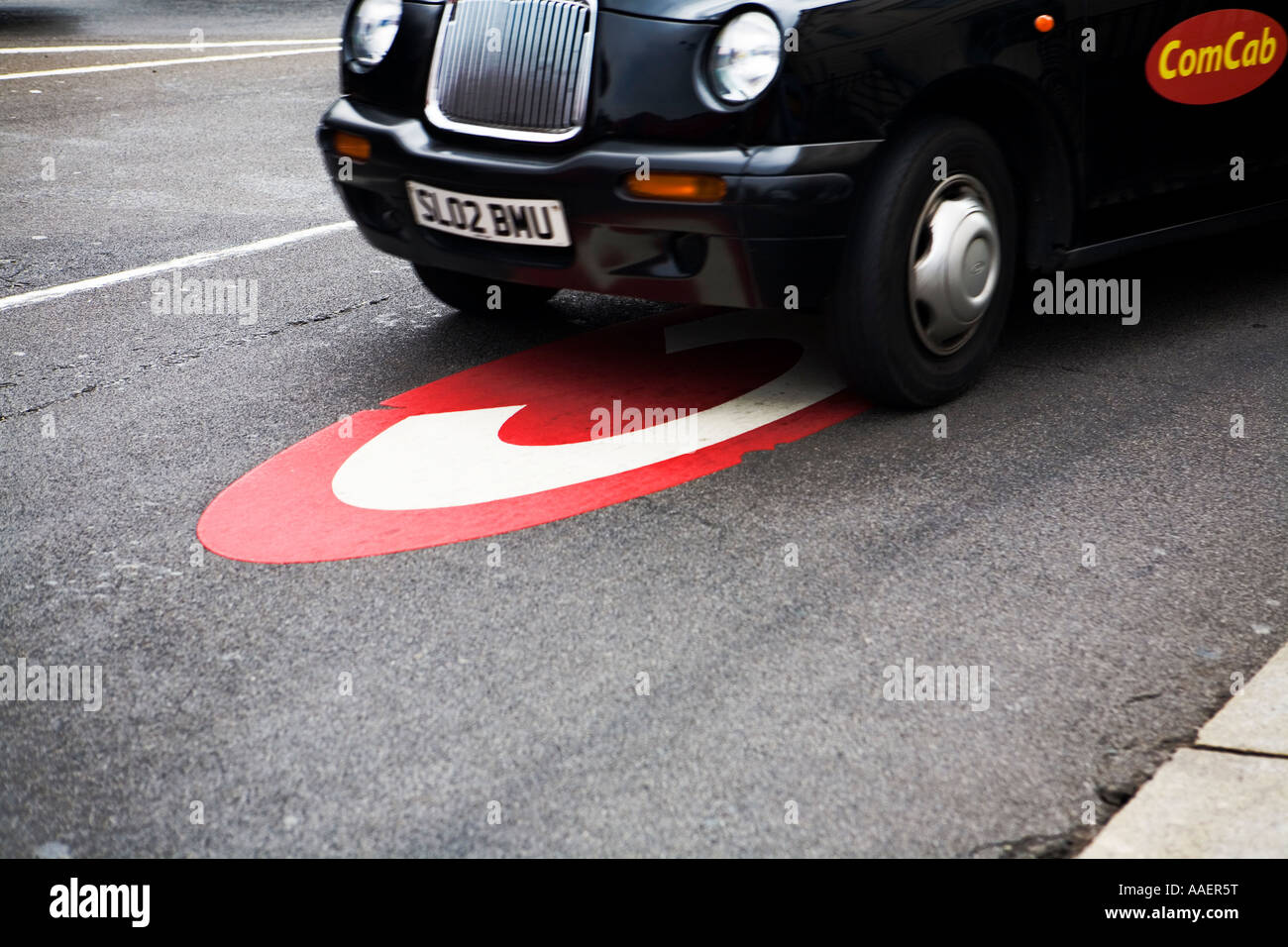Congestion charge sign at Knightsbridge London - Stock Image