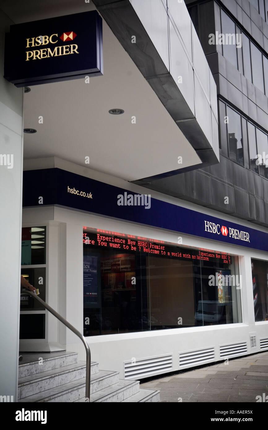 HSBC Premier bank on Park Lane London - Stock Image