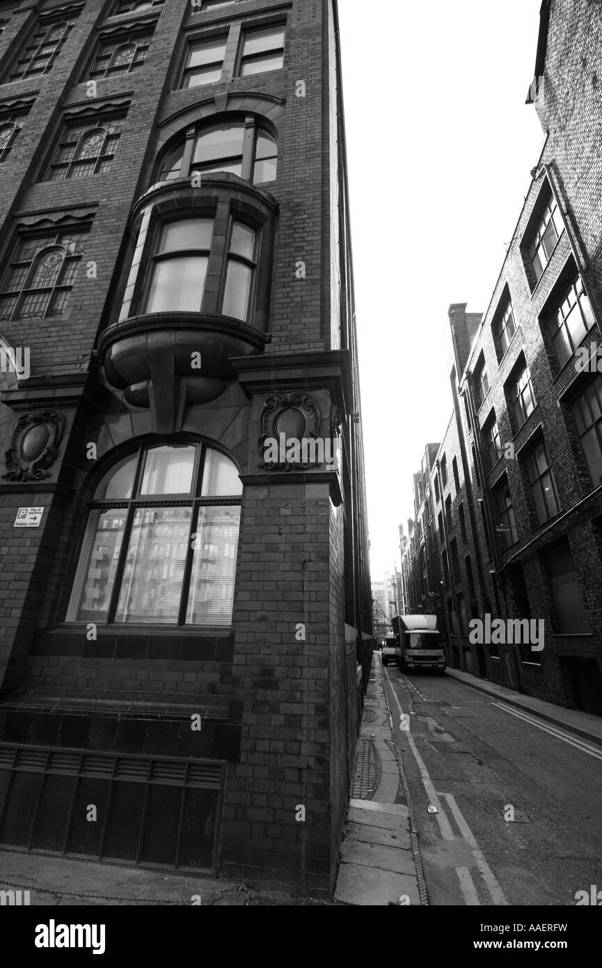 Grade II listed building, Hilton Street, China Lane, near Piccadilly and the Northern Quarter, Manchester, UK - Stock Image
