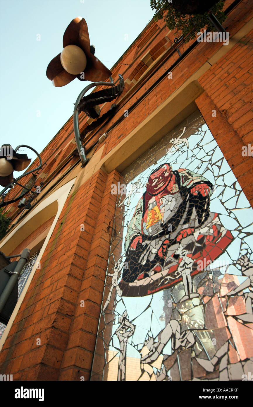 Affleck's Palace, Mark Kennedy mosaic, Church Street, Northern Quarter, Manchester, UK - Stock Image