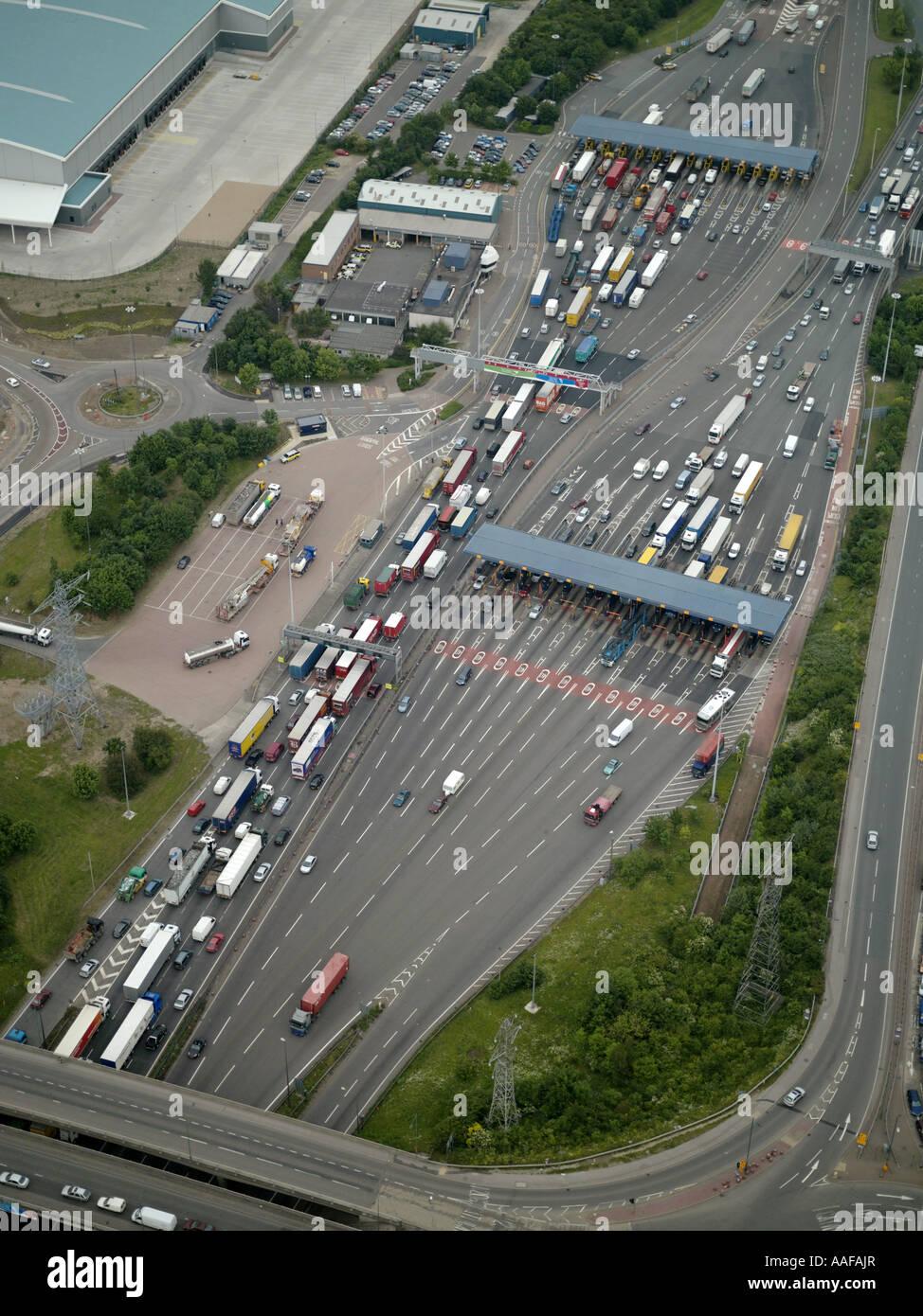 Dartford crossing Toll, Kent, England - Stock Image