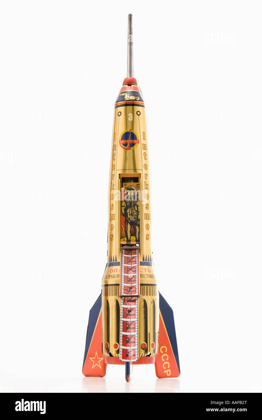 Soviet rocket toy - Stock Image