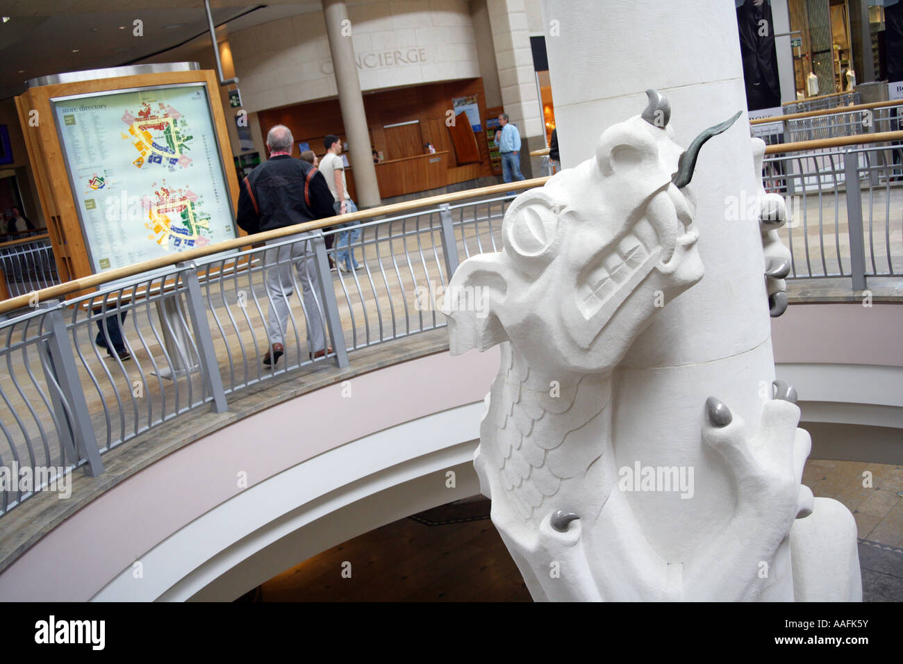 A dragon greets shoppers on two levels at the bluewater shopping