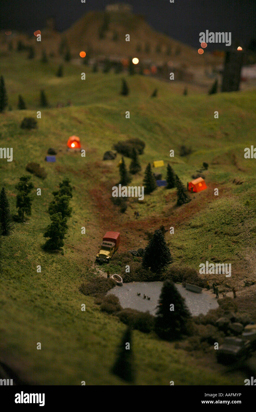 Emerald Lake Model Railway, near Puffing Billy Station, Victoria - Stock Image