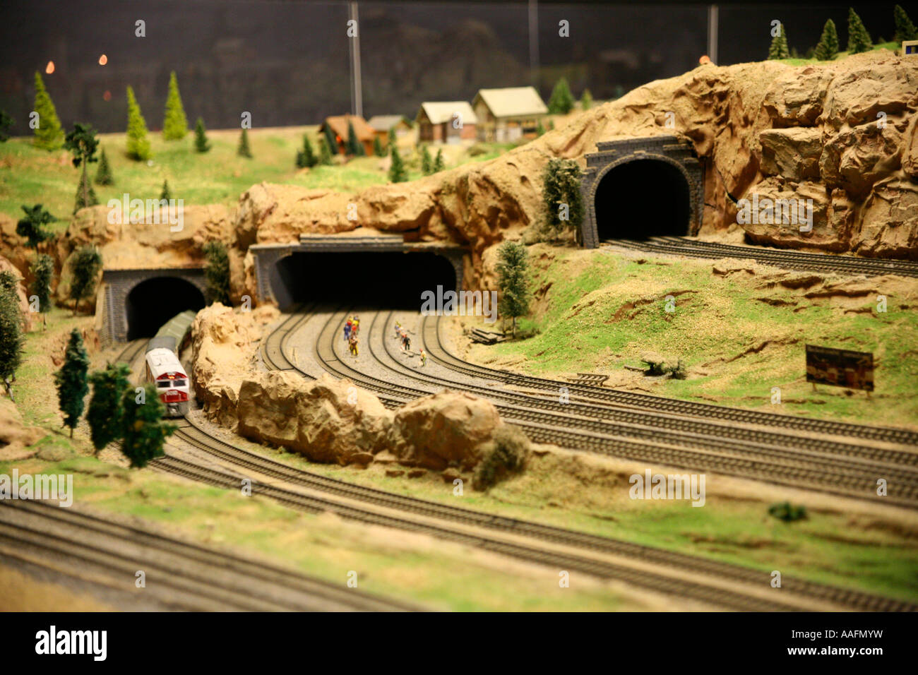 Emerald Lake Model Railway, near Puffing Billy Station, Melbourne, Victoria - Stock Image