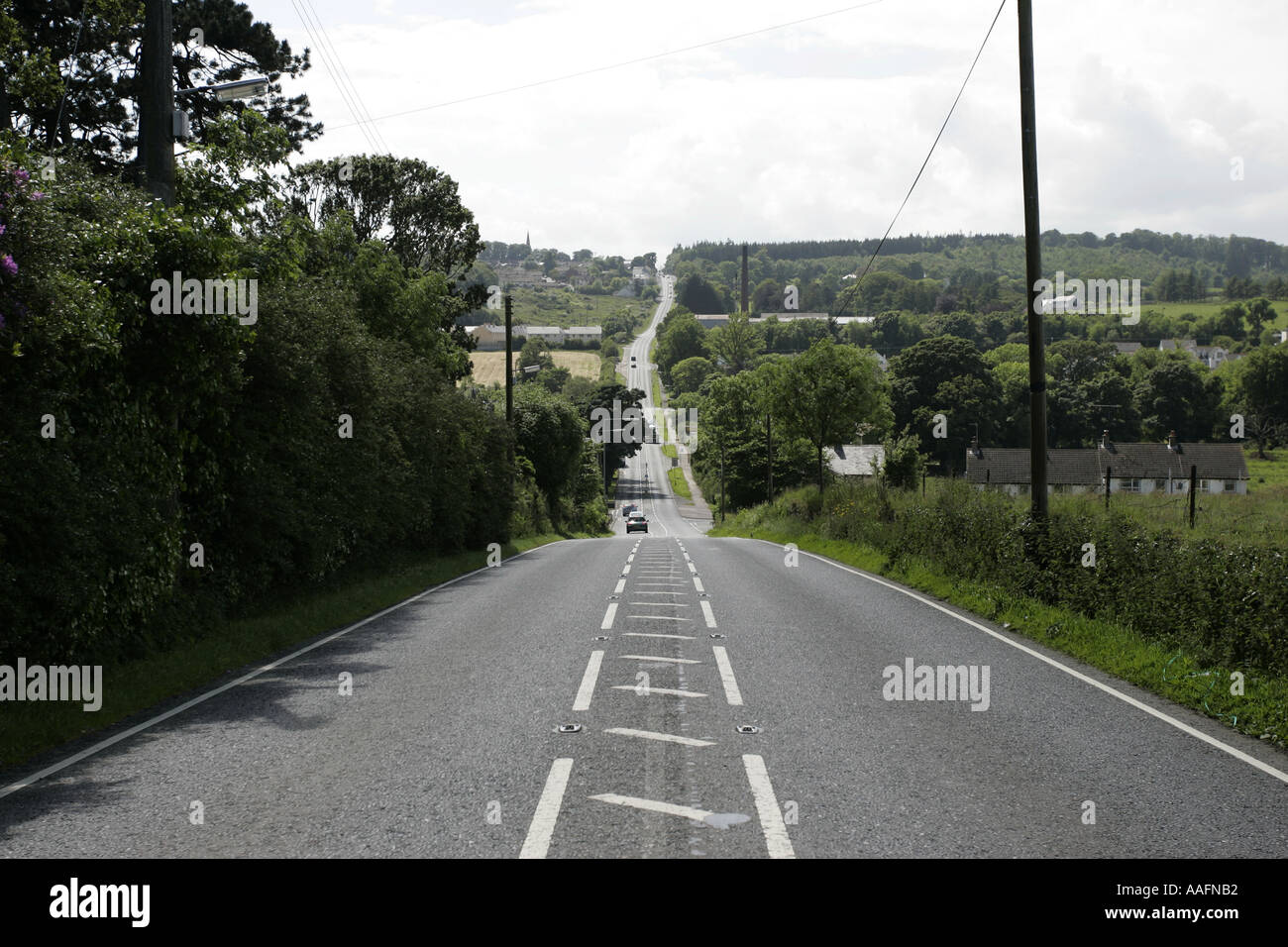 Clough to Castlewellan road county down northern ireland - Stock Image