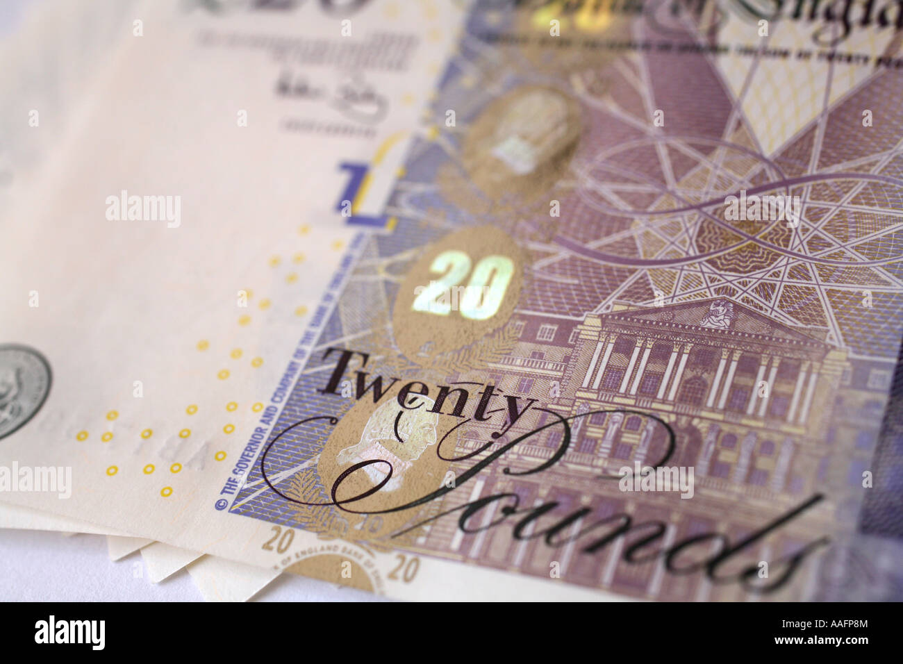 Bundle of the new Twenty pound note, 2007 - Stock Image