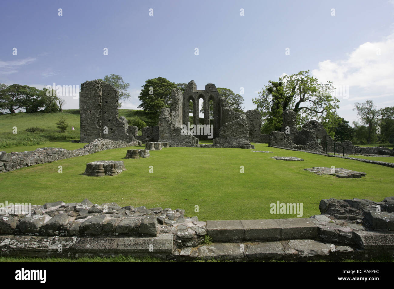 Inch Abbey near downpatrick County Down Northern Ireland game of thrones filming location - Stock Image