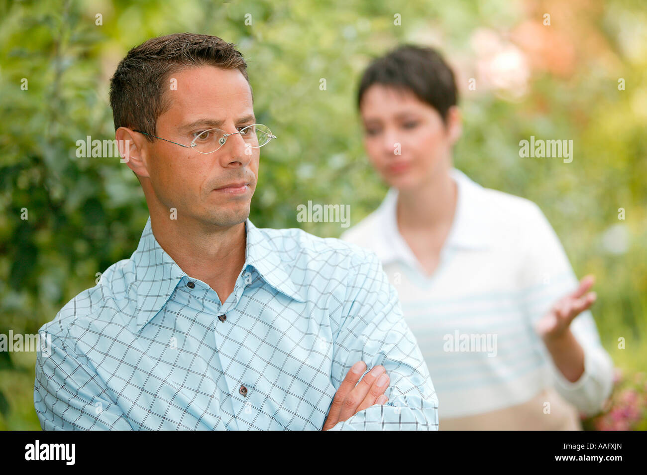 couple has conflicting - Stock Image