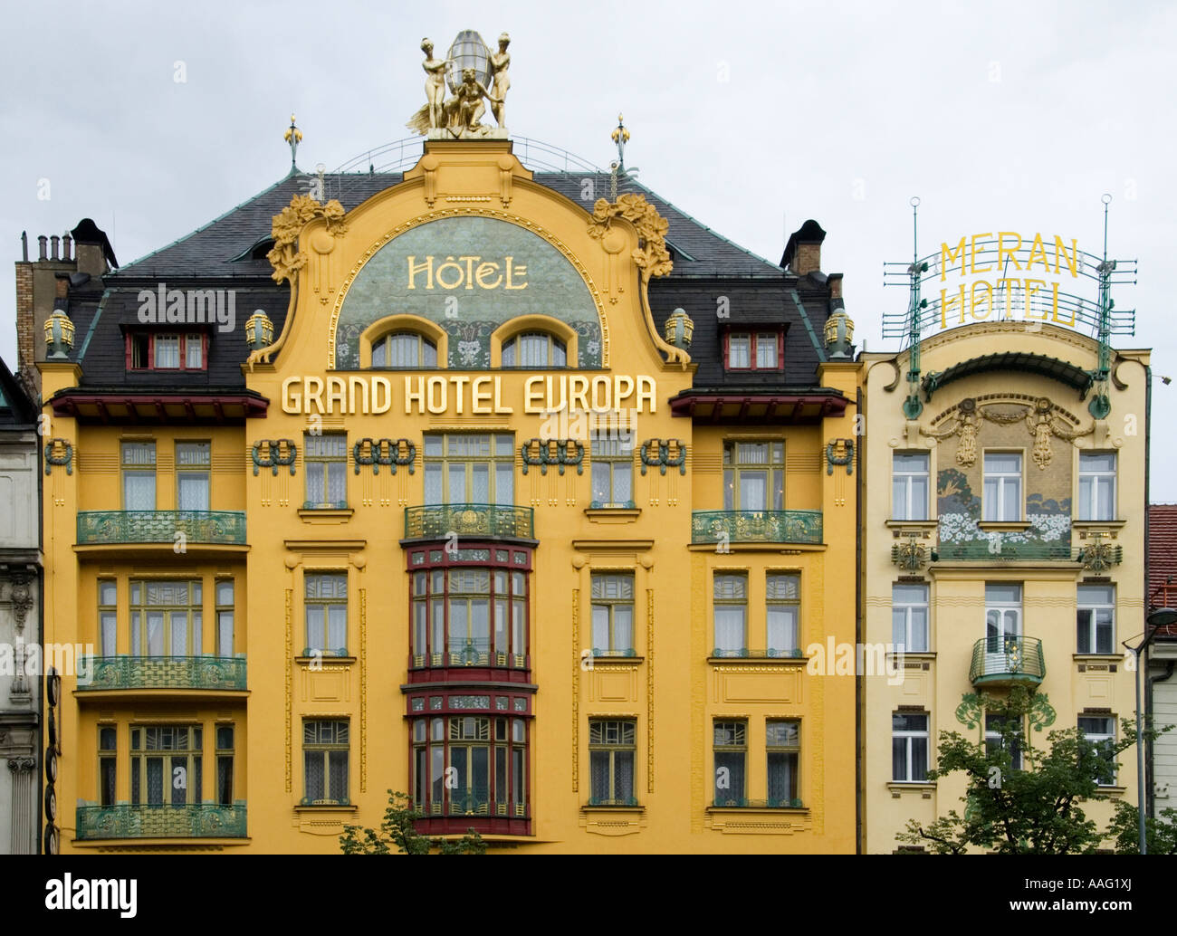 classics of art nouveau architecture 39 grand hotel europa 39 and 39 meran stock photo 12619913 alamy. Black Bedroom Furniture Sets. Home Design Ideas