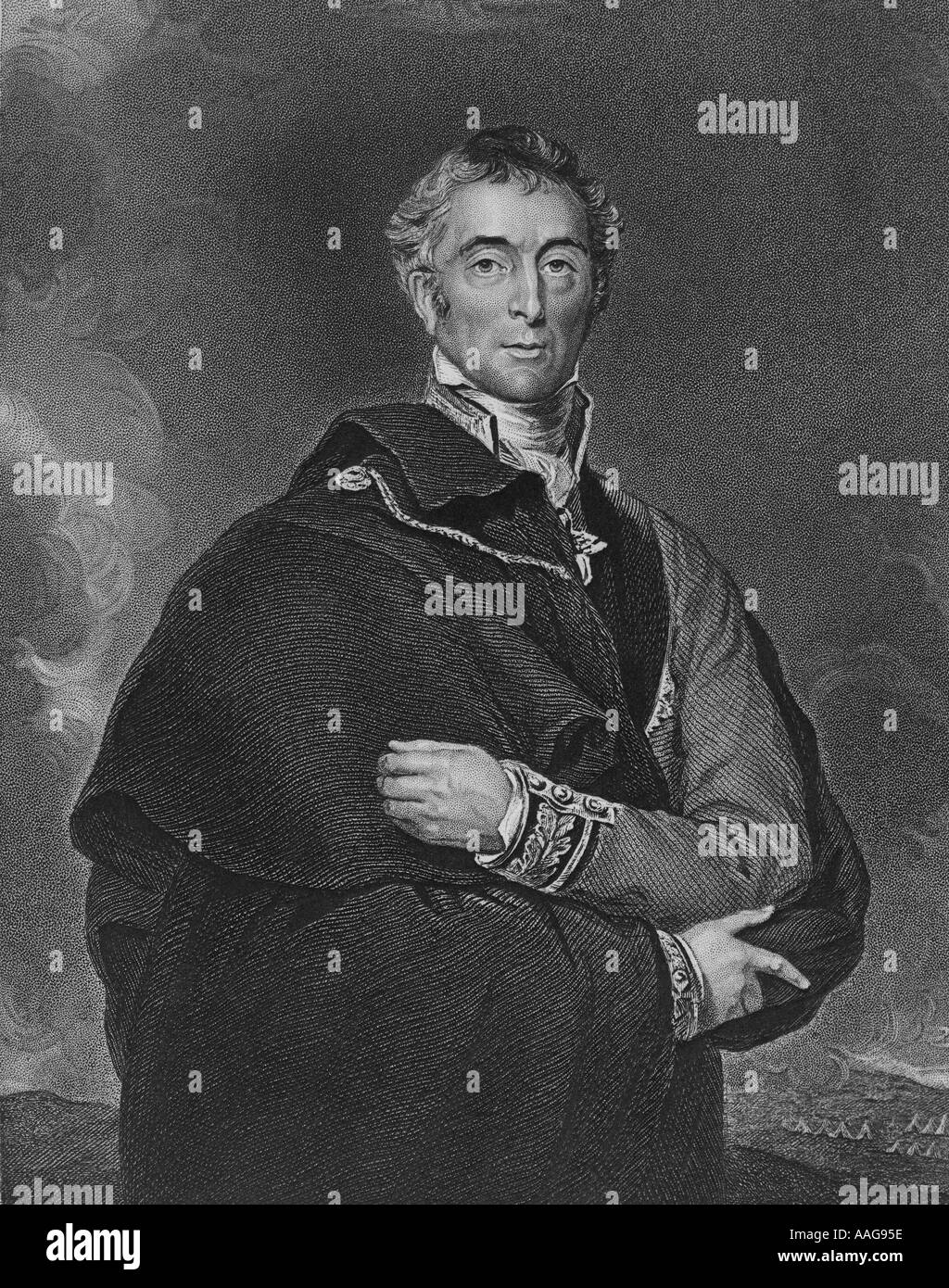 Arthur Wellesley the Duke of Wellington 1769 1852 - Stock Image