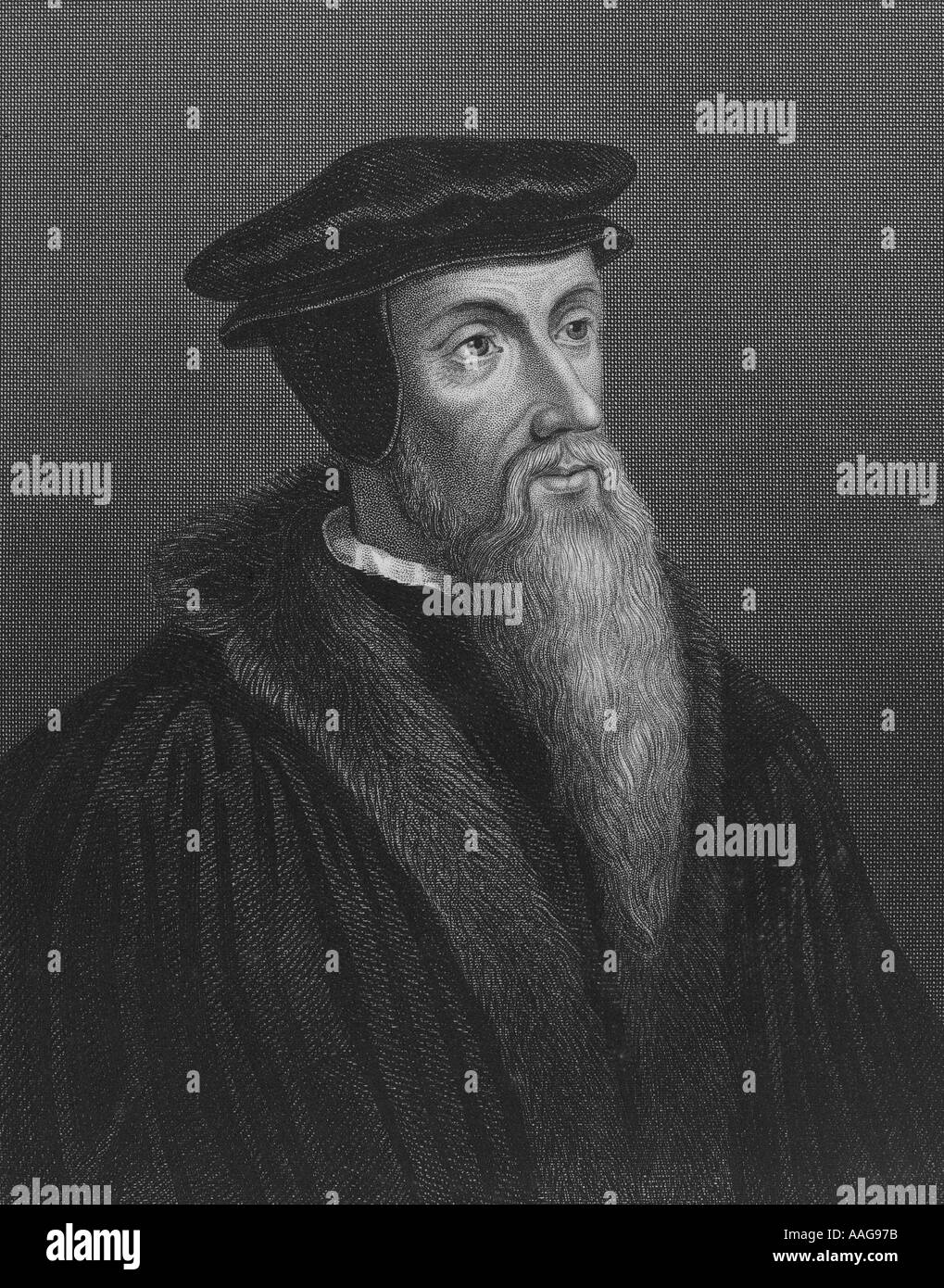 John Calvin 1509 1564 French reformer and theologian - Stock Image