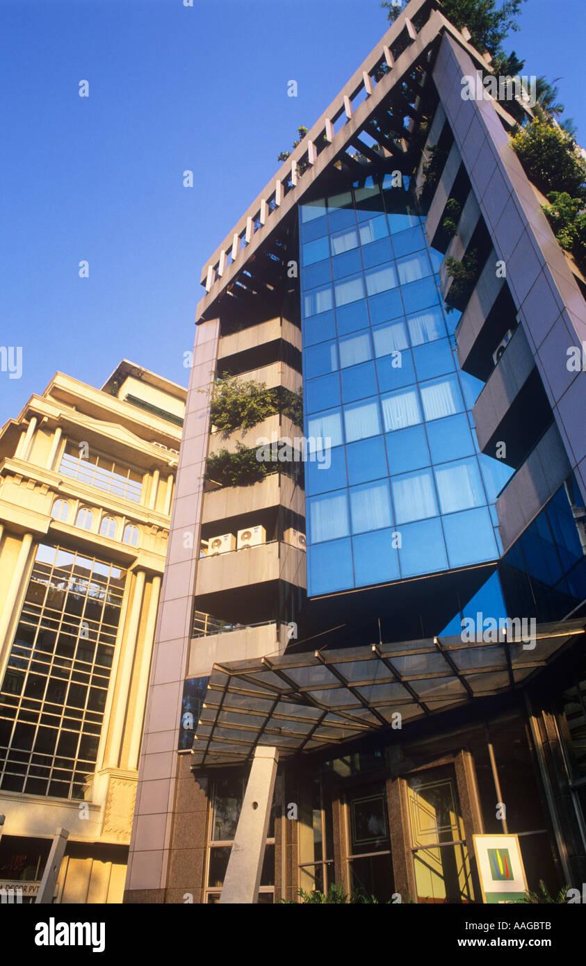 Modern Buildings Residency Road Bangalore Karnataka India Stock