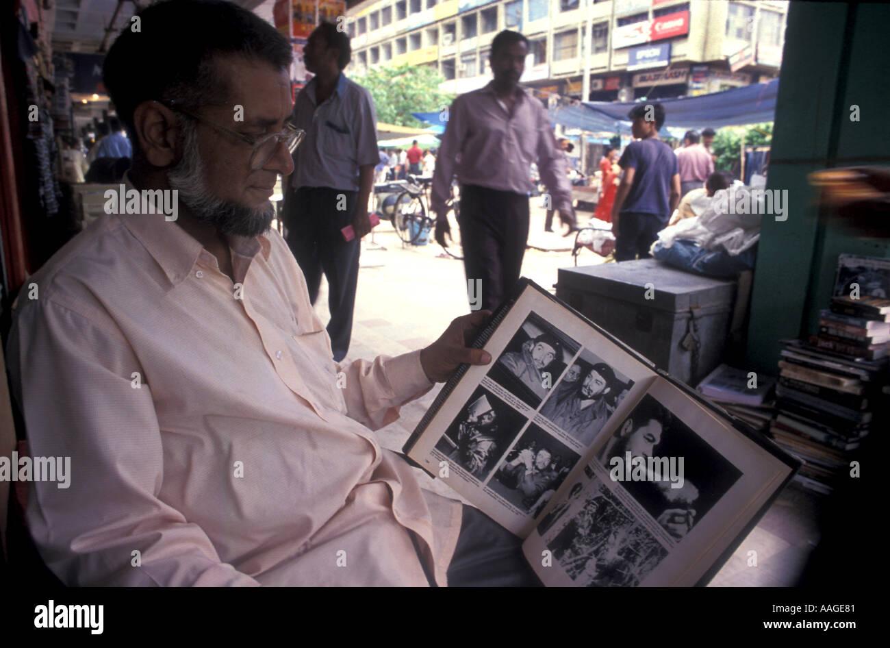 Karim book seller Delhi India - Stock Image