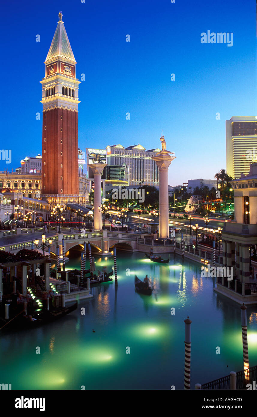 THE VENETIAN CASINO LAS VEGAS NEVADA - Stock Image